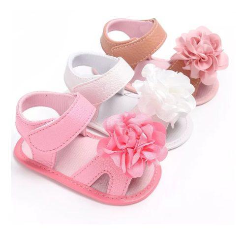 Zapatos sandalias bebe niña clanchas elegantes flor
