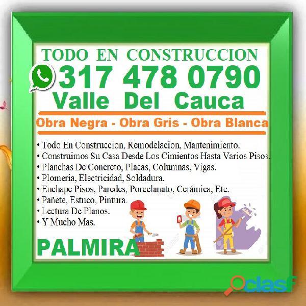⭐ PALMIRA, Maestro De Obra, Albañil, Plomero, Electricista, Pintor, Enchapador, Construccion, Cielo