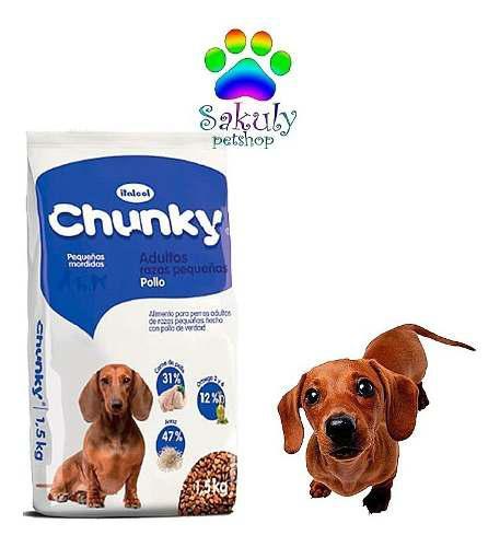Chunky adulto razas pequeñas. (8kg)