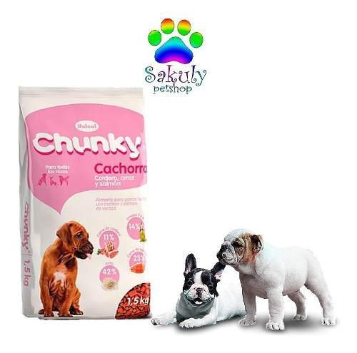 Chunky Cachorro Cordero, Arroz Y Salmón (8kg)