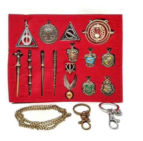 Harry Potter Caja Accesorios Collar Cadena Llavero Cosplay