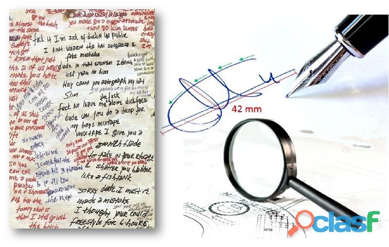 Perito grafologa y documentologa