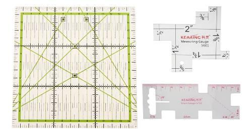 3pcs pvc patchwork quilting regla de medición - herramient
