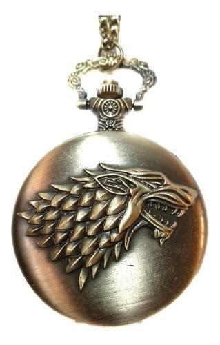 Collar reloj game of thrones casa stark targaryen lannister
