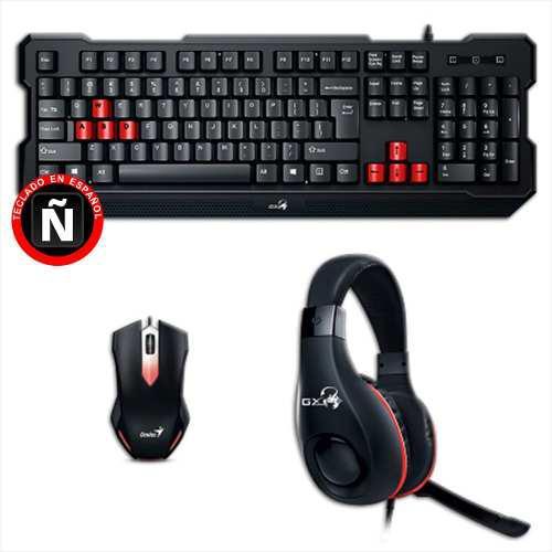 Combo gamer genius gx kmh-200: teclado + mouse + diadema