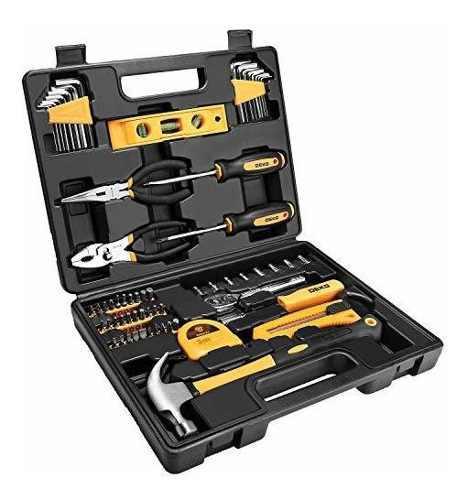 Dekopro juego de herramientas para el hogar con caja de herr