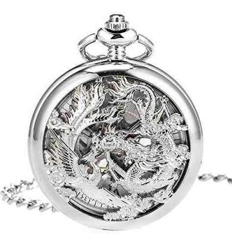 Manchda reloj de bolsillo mecanico antiguo con diseño de