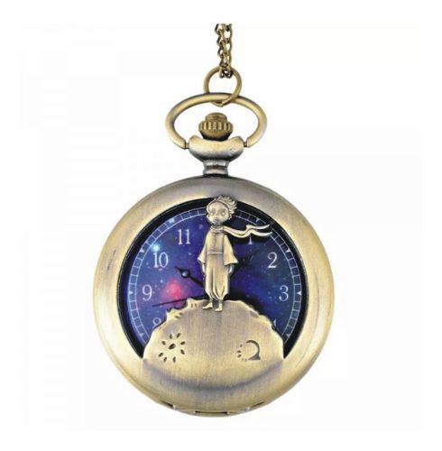 Reloj de bolsillo vintage el principito bronce cadena