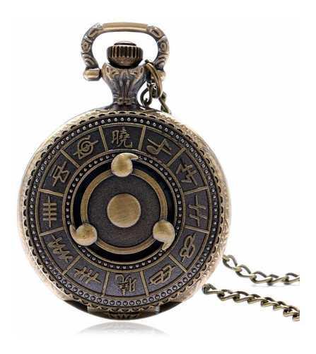 Reloj de bolsillo vintage naruto cadena bronce