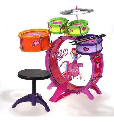 Batería Musical Niñas Big Band 5 Tambores 28805
