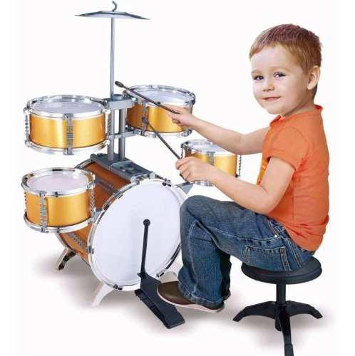 Bateria musical jazz drum 5 tambores silla niños 661-883