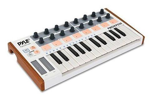 Controlador de teclado midi usb pyle equipo grabación dj