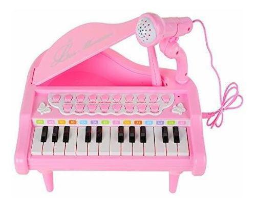 Honorario pequeño piano teclado juguete para niños, 24 lla