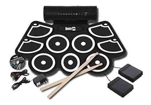 Kit De Bateria Midi Rockjam Rj760md Roll Up Electronico Con