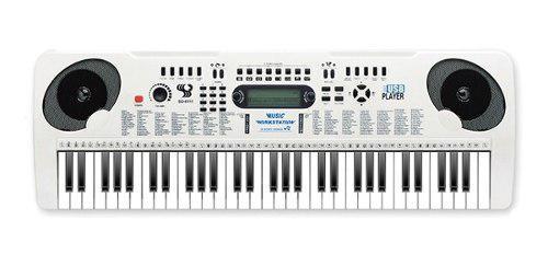 Piano organeta eléctrica usb mp3 61 teclas musical aprendiz