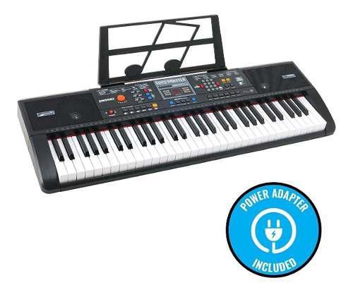 Piano teclado eléctrico plixio 61 leyenda usb mp3