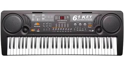 Piano teclado organeta para niños mq 809 usb 61 teclas