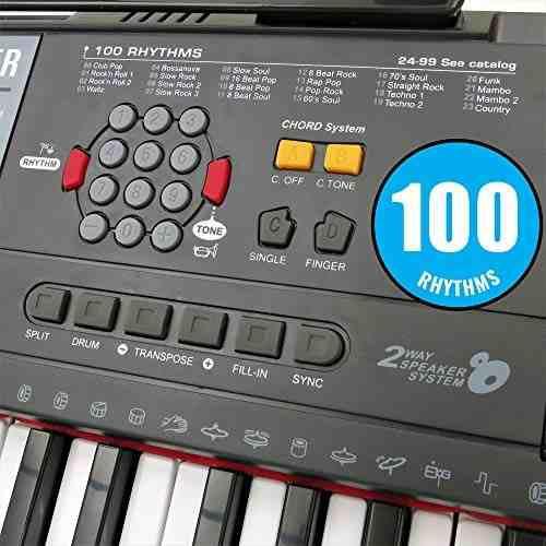 Plixio piano musical eléctrico + teclado 61 teclas + salida