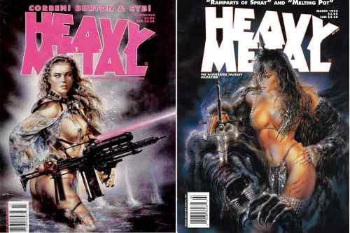 Revista Heavy Metal Fantasía Ilustrada Fascículos 80's