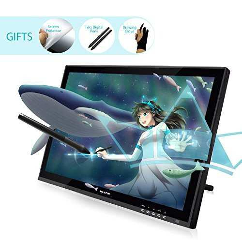 Huion gt-190 pen display graphics drawing tablet monitor con