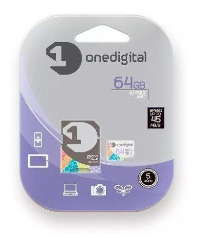 Memoria Micro Sd Onedigital 64gb Clase 10 + Adaptador Sd