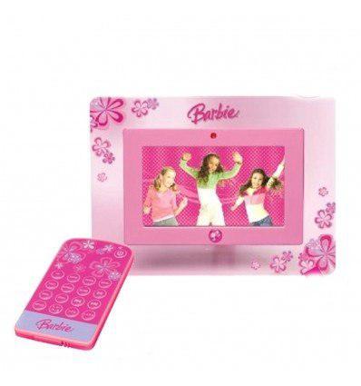 Portaretratos Digital Barbie De 7 + Control Remoto Y Memori