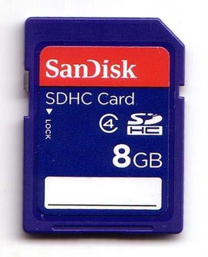 Tarjeta Sdhc De 8gb Sandisk Clase 4 Memoria Flash Digital