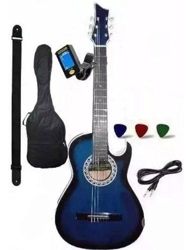 1 Guitarra Electroacustica Afinador Forro Correa Garantia