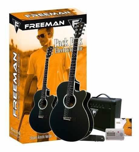 Folk Pack Freeman Guitarra Electroacustica Amp Y Accesorios