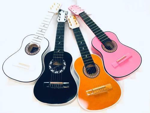 Guitarras Madera Para Niños Hasta Los 4 Años Forro Y