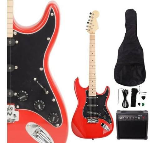Nueva Guitarra Eléctrica St Burning Fire Con Fender Negro 2