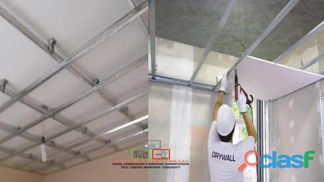 Mano de obra y materiales drywall