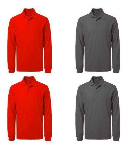 2 Camiseta Tipo Polo Manga Larga Camibuso Envío Gratis
