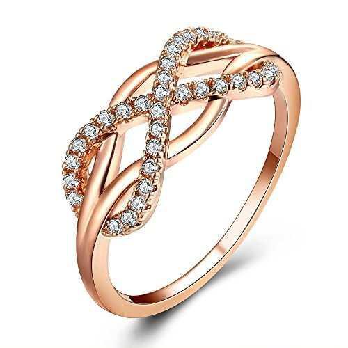 Anillo infinito anillos de boda en oro rosa anillos de