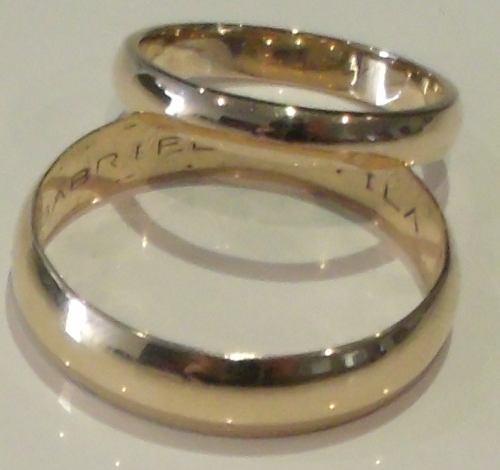 Argolla Para Matrimonio Oro Amarillo 18k 4gr. Valor Unidad