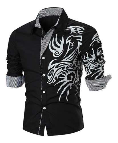 Camisa Nueva Color Negro Hombre Importada Elegante Moderna