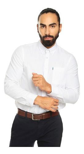 Camisa para hombre manga larga oxford chelo rosado