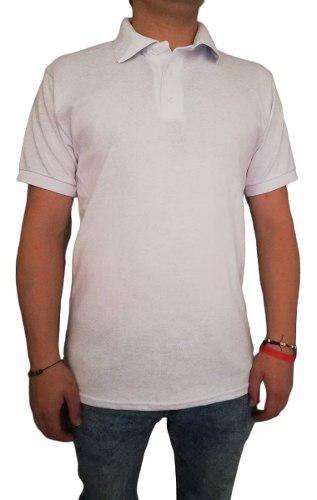Camiseta Tipo Polo Blanca Hombre Caballero