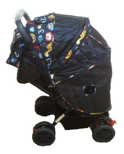 Coche Bebé Niño Plegable Reversible Cubretodo Pañalera