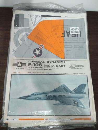 Modelos escala 1:32 carton armar delta dart f-106 aeromodelo