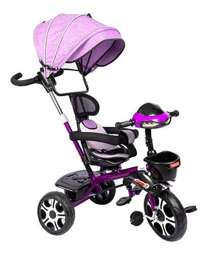 Paseador triciclo coche bebés silla giratoria luces sonidos