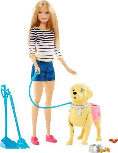 Barbie paseo de perrito mascotas niña juguete regalo