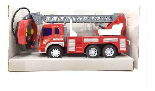 Carro camión bomberos a escala guete niños a control