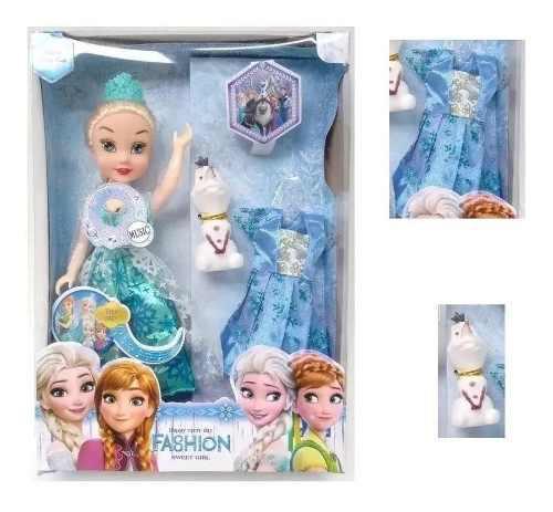 Frozen elsa muñecas princesas musicales juguetes hermosa
