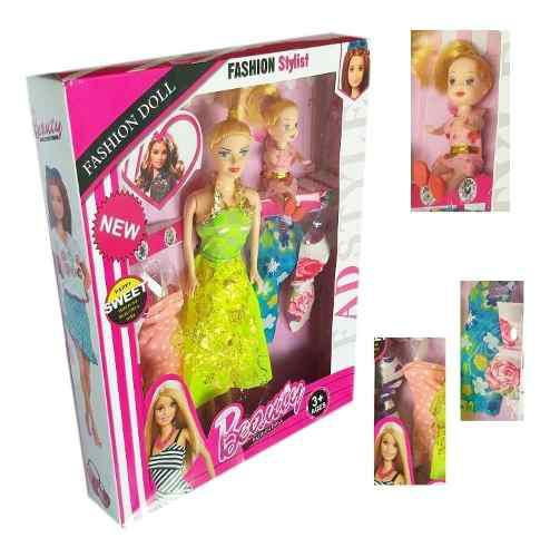 Muñeca juguete tipo barbie vestidos niña juguetería