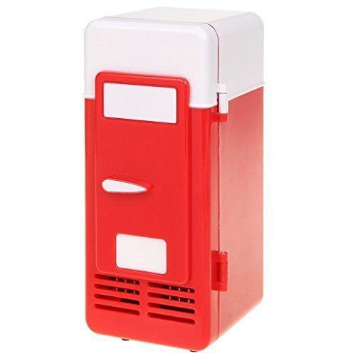 Threeh New Mini Red Usb Refrigerador Refrigerador Bebidas