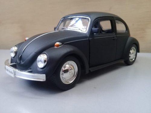 Volkswagen beetle negro mate/ escala 1:32, 11.5cms. metalico