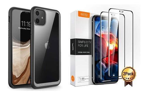 Iphone 11 / 11 pro case supcase & vidrio 6d full view curvo