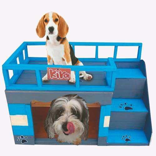 Casas Para Perros+obsequio Nombre De Tu Mascota