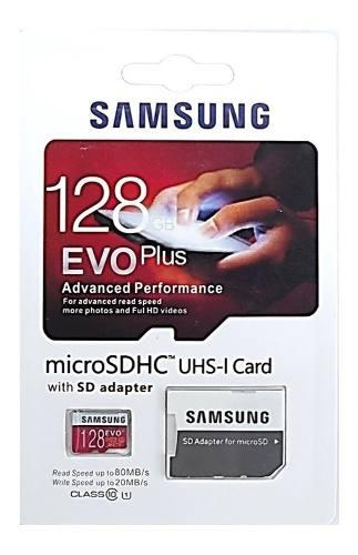Memoria 128gb micro sdhc samsung evo memory stick enviograti
